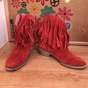 Diba red booties